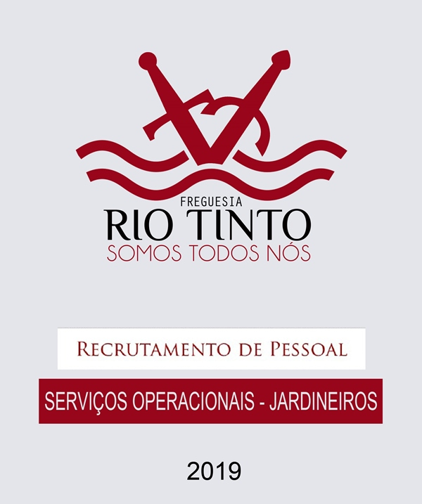 a6035eace4 Abertura de Concurso para Assistente Operacional na Junta de Freguesia de Rio  Tinto